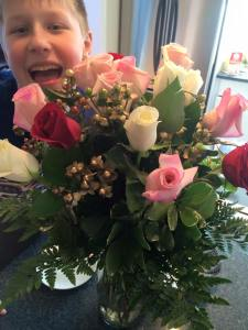 Flowers from our lovely listeners.