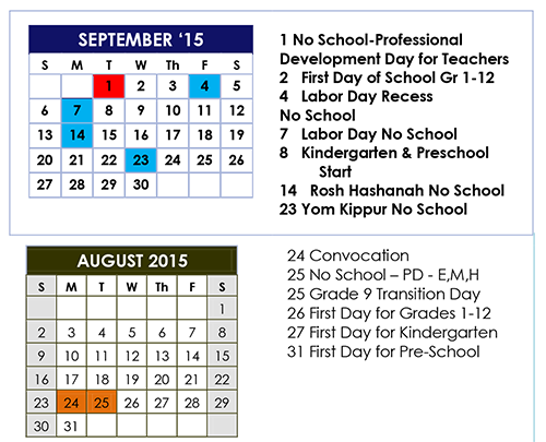 Wait. . . when does school start?