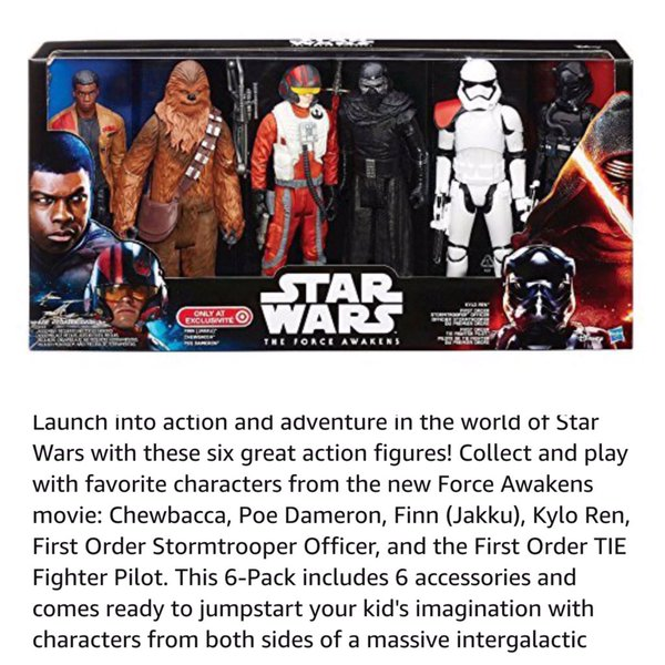 Amazon Star Wars Listings
